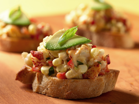 Corn Lobster Bruscetta,Food & Wine Section, DAting Symbol blog